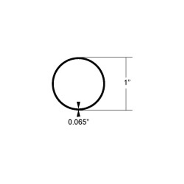 "Taco Stainless Steel Round Tube 1"" x 0.065"" x 24'"