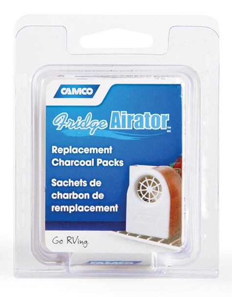 Camco Fridge Airator Replacement Charcoal Packs 42093