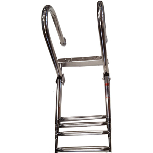 Wolfs 3-Step or 4-Step Stainless Steel Folding Ladder  WO-LD-3STEP WO-LD-4STEP