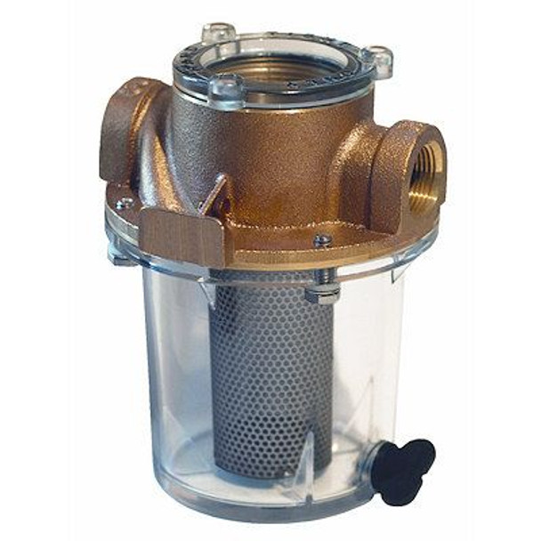 "Groco Raw Water Strainer with #340 SS Basket 3/4"" Short"