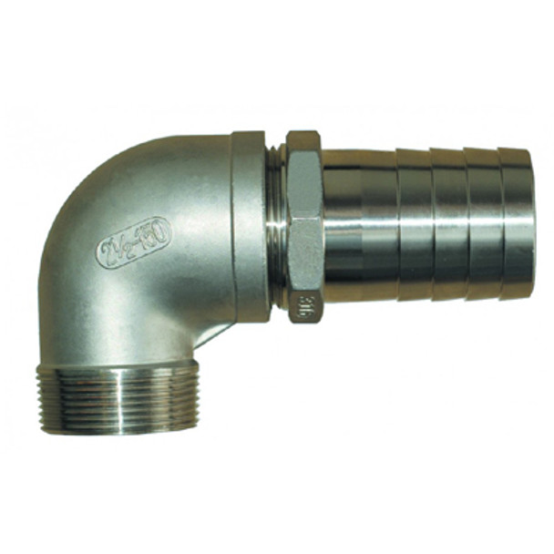 """Groco NPT Treads Stainless Steel Pipe to Hose Fitting, 3/4"""", 1"""", 1-1/4"""", 1-1/2"""""""