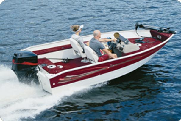 """Taylor Made Aluminum V-Hull Fishing Boats Semi-Custom Covers OB (Gray) 14' 5""""- 15'4"""" x 75""""W"""
