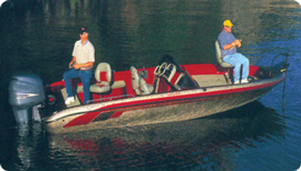 """Taylor Made Tournament Style Bass Boat Cover 18'5"""" - 19'4"""" x 94""""W (Pacific Blue) 88039OB"""