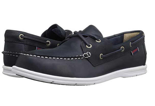 Sebago Men's Litesides Two-Eye (Navy Leather)