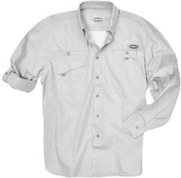 Rugged Shark® Men's Bull Shark Shirt (White, Long Sleeve) 5101005