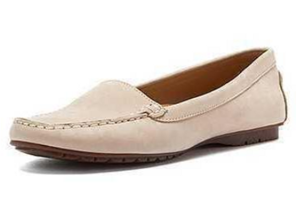 Sebago Womens Meriden MOC Slip-on Loafer (Ivory)