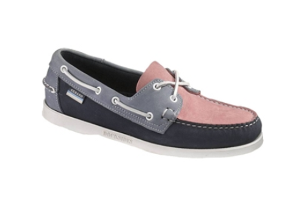 Sebago Spinnaker Boat Shoe (Pink/Navy)