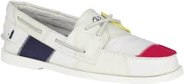 Sperry Men's Authentic Original BIONIC Boat Shoe (White/Multi)