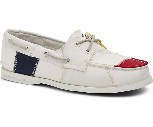 Sperry Women's Authentic Original BIONIC Boat Shoe (White/Multi)