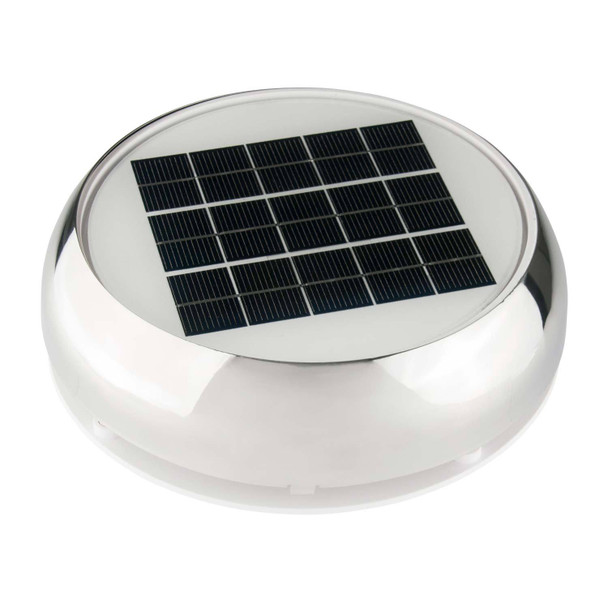 """Marinco 4"""" Stainless Steel Day/Night Solar Vent"""