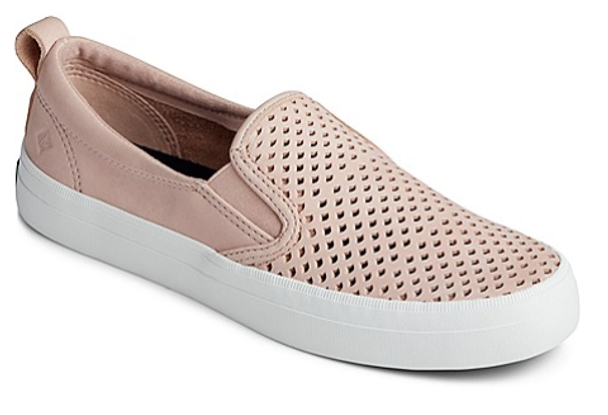 Sperry Women's Crest Twin Gore Scalloped Perforated Sneaker (Rose Dust)