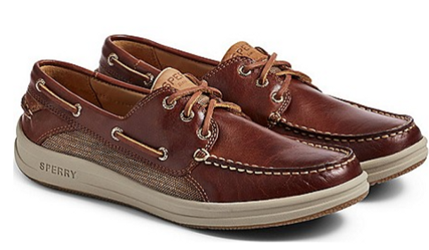 Sperry Men's Gold Cup Gamefish 3-Eye Boat Shoe (Brown)