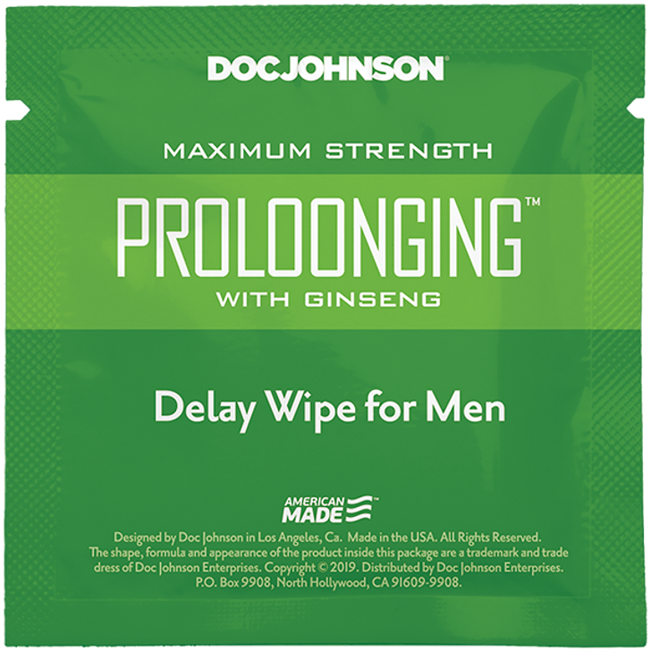 Maximum Strength Proloonging W/Ginseng Delay Wipe For Men