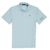 Cotton, Polo- Green/Blue Striped