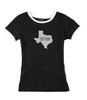 Cotton, Ladies Texas Ringer Tee