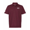 Game Day Maroon and White Polo Shirt