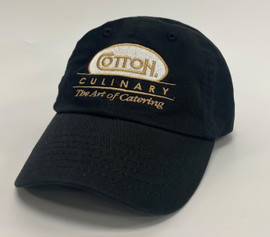 Black Unstructured Hat - Culinary