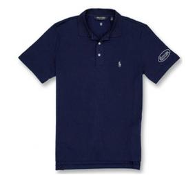 Cotton, Polo- Navy w/Silver