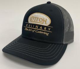Black Culinary Charcoal Mesh Hat