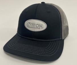 Black & Charcoal - Silver Cotton Hat