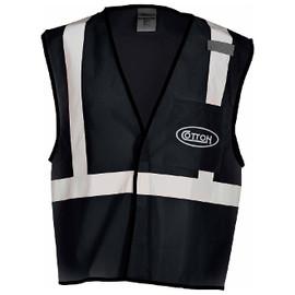 Cotton Safety Canvas Vest, Black