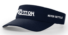 "Cotton ""Never Settle"" Visor"