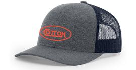 Cotton Heather Grey/Navy w/Orange Hat