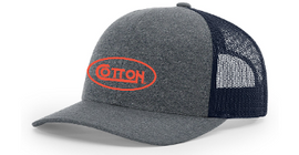 Cotton Heather Grey/Navy w/Orange Hat