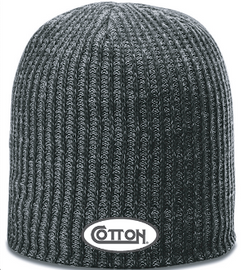 Cotton Slouch Beanie, Heather Grey
