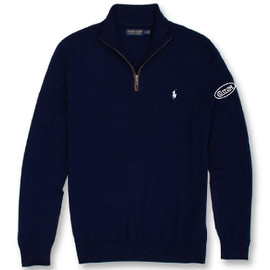 Cotton, Polo- Murano Sweater 1/2 Zip, Navy