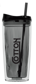 Cotton 16oz Tumbler, Black
