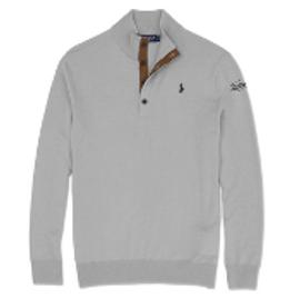 Cotton, Polo- Merino Sweater, Heather Grey