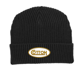 Cotton, Ribbed Beanie