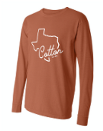 Comfort Colors Long Sleeve. Texas Orange