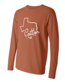 Comfort Colors Long Sleeve. Texas Orange