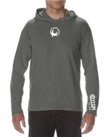 Comfort Colors, Long Sleeve Hooded Shirt, Grey