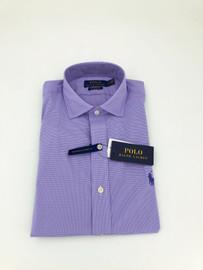 Cotton, Button-Down, Lavender