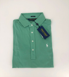 Cotton, Lisle Stretch Polo, Essex Green