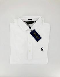 Cotton, Lisle Stretch Polo, White