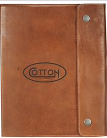 Cotton Snap Close Leather Journal