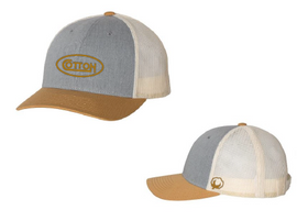 Cotton, Grey and Gold Hat