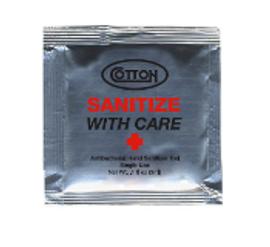 Cotton, Antibacterial Sanitizing Gel Pack