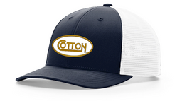 Cotton, Distressed, unstructured Navy Hat