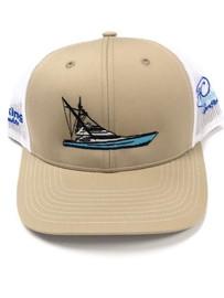 High Cotton, Boat, Khaki/White hat