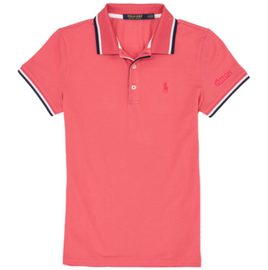 Cotton, Polo- Ladies Pink Short Sleeve