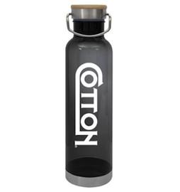 27 OZ Tritan Bottle w/Bamboo lid
