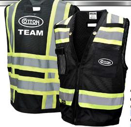 Black Safety Mesh Vests