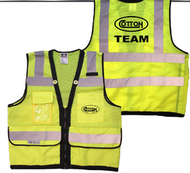 Yellow Safety Mesh Vest