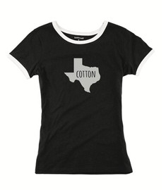 Cotton, Ladies Texas Ringer Tee