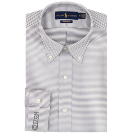 Men's RL Button-Down - Grey